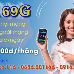 Gói Vinaphone Trả Sau D169G data 2Gb/ngày