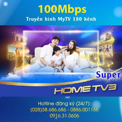 Gói Home TV3 Super VNPT 100MBPS