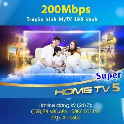 Gói Home TV5 Super VNPT 200Mbps