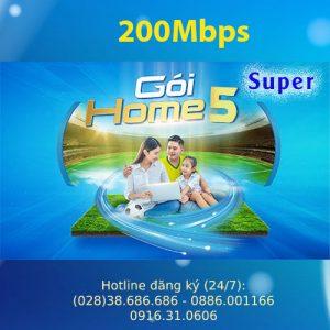Gói Internet VNPT Home 5 Super 200Mbps
