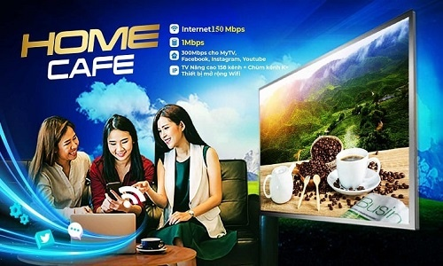 gói internet truyền hình tốc độ cao 150Mbps gói home cafe