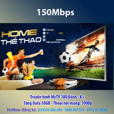 Gói Home thể thao K+ 150Mbps VNPT