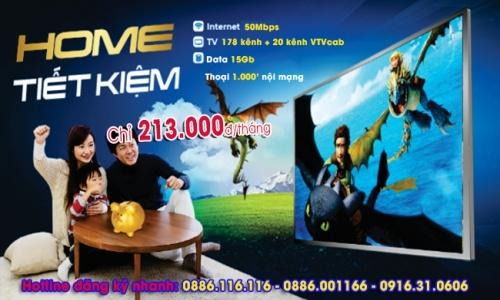 Gói Internet truyền hình VNPT Gói Home Tiết Kiệm 50Mbps