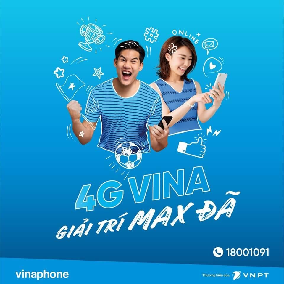 Sử dụng 4G VinaPhone Giải Trí Max Đã