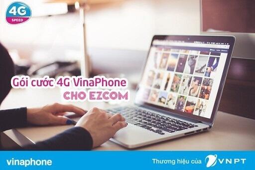 Gói cước 4G VinaPhone cho sim ezCom