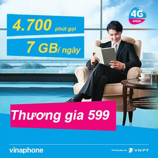 Gói cước VinaPhone trả sau Thương gia 599