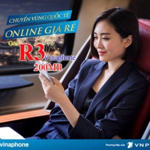 Gói Data Roaming Vinaphone R3 Siêu Rẻ