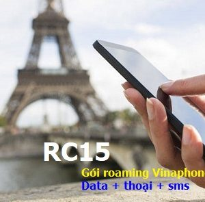 Gói roaming vinaphone data + thoại sms RC15
