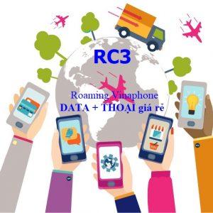 Gói roaming Vinaphone + thoại giá rẻ RC3