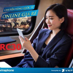 Gói roaming vinaphone data + thoại sms RC30