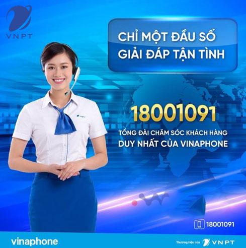 Tổng đài Vinaphone 18001091 miễn phí và duy nhất