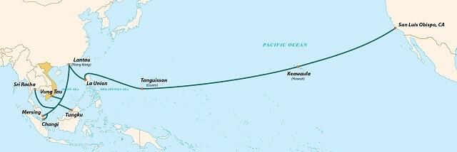 Tuyến cáp quang biển AAG đang được VNPT khai thác sử dụng