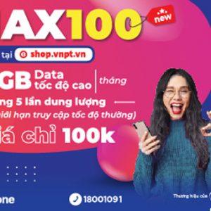 Gói 4g Vinaphone không giới hạn MAX100 1GB/ngày