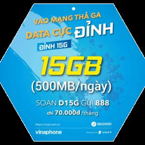 Gói 4G Vinaphone Đỉnh 15G D15G