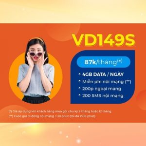 Gói Vinaphone trả trước giá rẻ VD149S