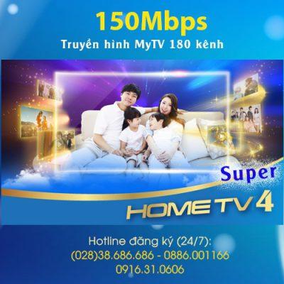 gói Home TV4 Super VNPT 150Mbps