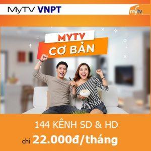 Gói cơ bản truyền hình mytv chỉ 22.000đ/tháng 144 kếnh